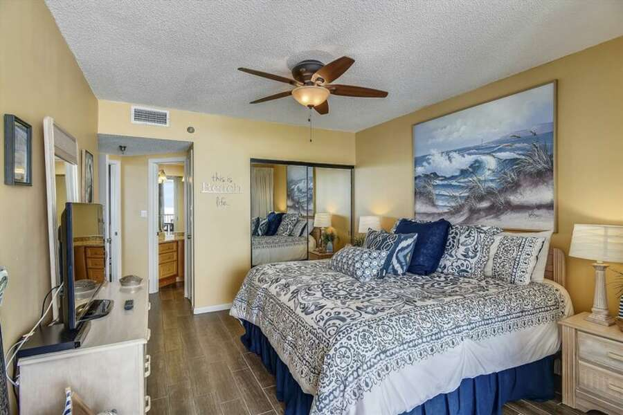 Master Bedroom with a King Size Bed and Private Master Bathroom