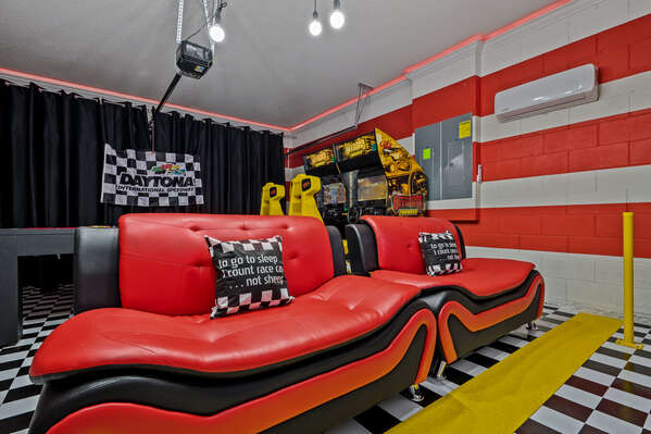 Spend the day in this awesome themed game room