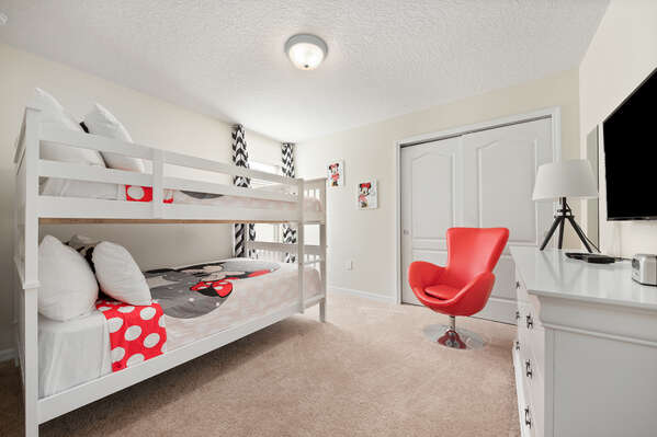 Kids will love this fun bedroom