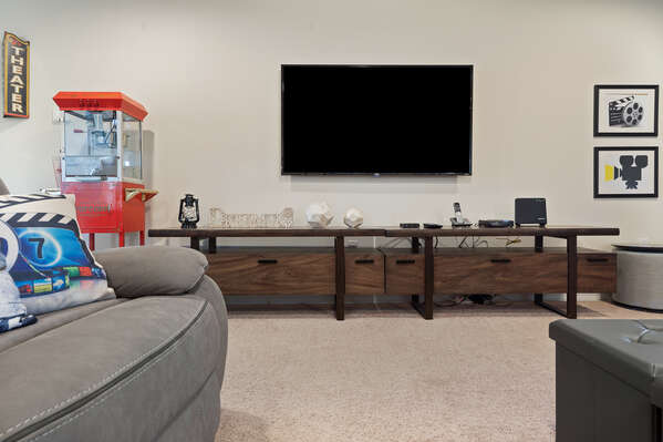 Watch a family favorite movie on the large TV