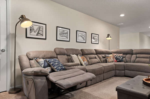 Get cozy on the large sectional
