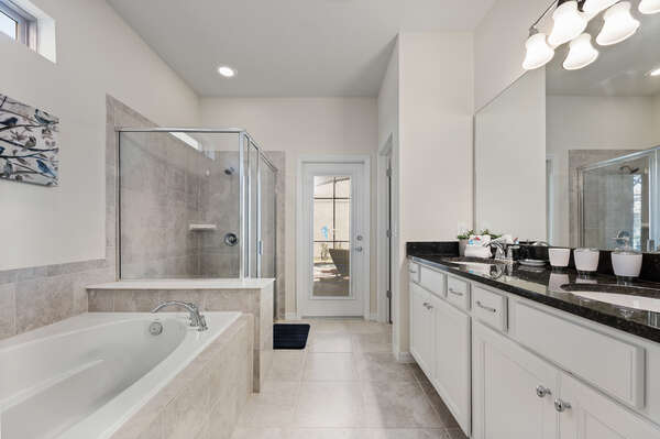 Beautiful ensuite with a dual vanity