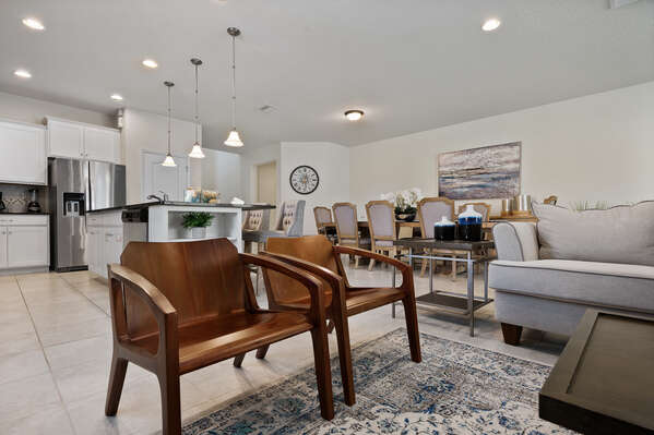The open-concept floorplan is ideal for quality family time