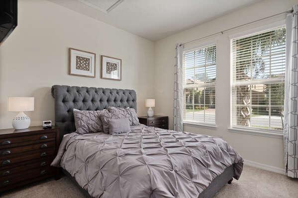 Rest easy in the first floor bedroom