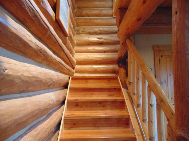 Leaky Waders ~ stairs to loft (considered bedroom)