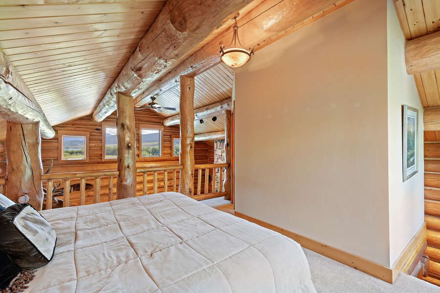 Leaky Waders ~ loft (considered bedroom) w/ king bed and private bathroom w/ shower