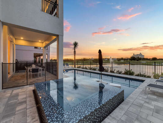 Admire beautiful sunsets from the patio