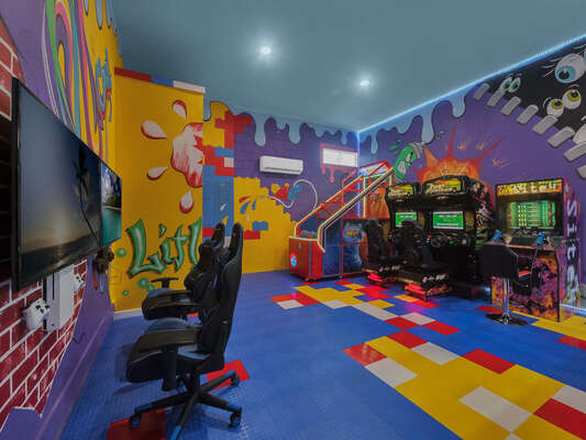 Have a blast in the downstairs games room