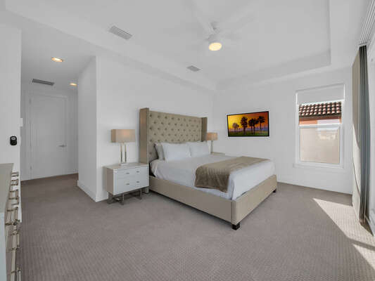 End your night in this luxurious suite with a king bed