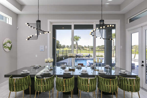 Bring the family together at the formal dining table