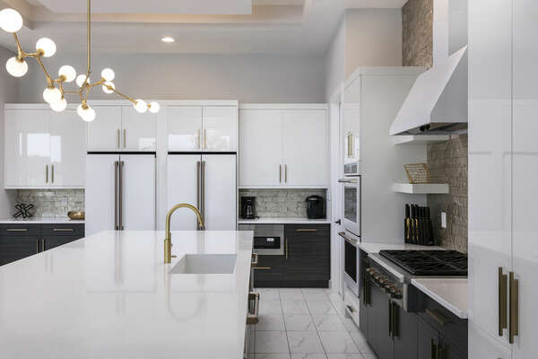 Large kitchen with 2 refrigerators
