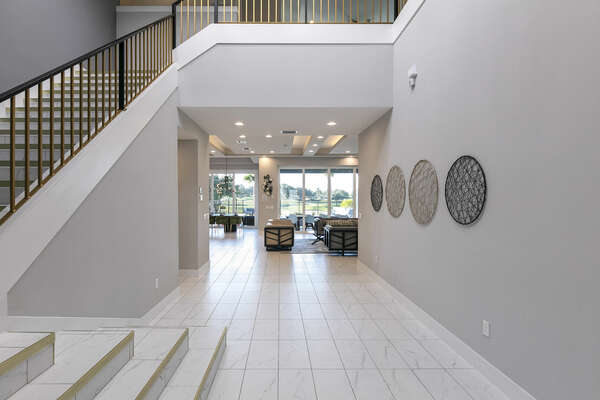 Enter the home into the sleek and modern foyer
