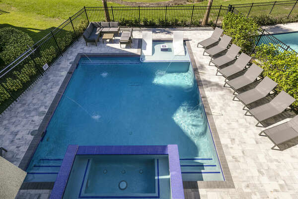 Enjoy the seclusion of a private pool patio