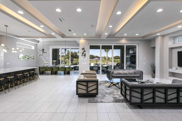 Be blown away by the modern details and furnishings