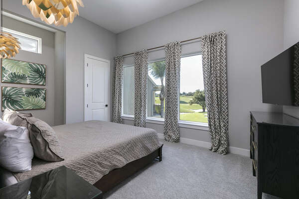 Admire the beautiful views from your bedroom