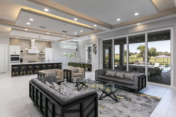 The open living area has room for the whole family with plenty of spacious seating