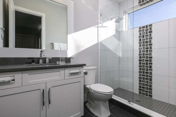 Get ready for bed in this ensuite bath