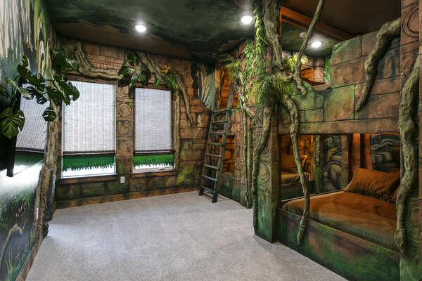 Venture through the jungle in this kid's bedroom!