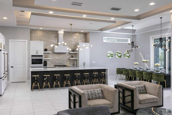 The open floor plan will bring the family closer together