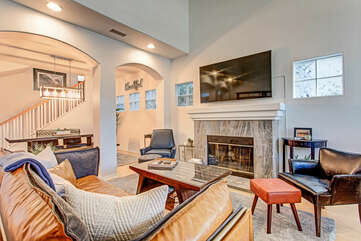 Front Living Area with Smart TV