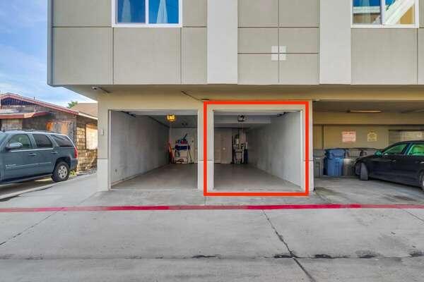 Tandem Garage for Guest Usage.