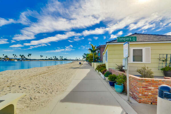 Vacation Home in San Diego CA is Steps Away From the Bay.