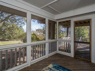 Screened porch on 1st level