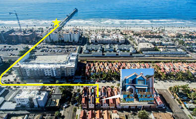 Only a 3-5 minute walk to the beach and the Oceanside Pier! This home will make you feel like a local.