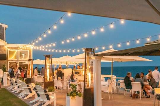 Outdoor Patio at the Ocean house! DennisPort , Cape Cod . New England Vacation rentals.