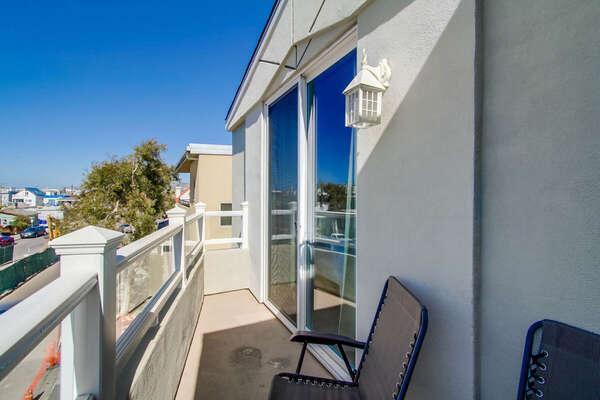 Balcony off of Master Bedroom Suite.