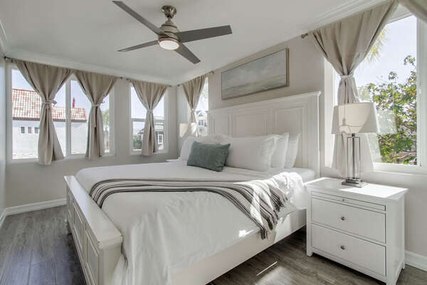 Bedroom Includes Large Windows for Natural Light.