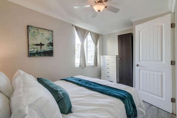 Bedroom Features Large Window.