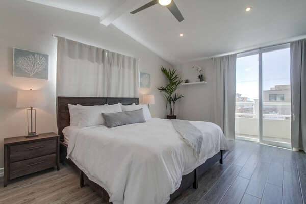 Master Suite Features Large King Bed.
