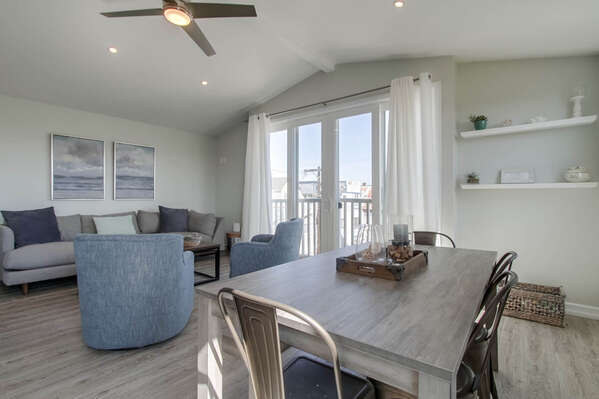 Living and Dining Area in Vacation Home in San Diego CA.