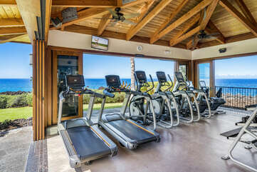Work out with an ocean view!