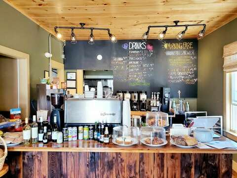 Great coffee at the Seal Pub- bakery goods and artisan pizzas!! Harwich Cape Cod -