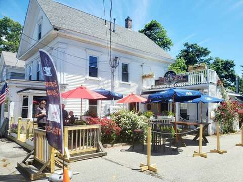 Bike or walk up to the Seal Pub -indoor and outdoor dining! Harwich Cape Cod -