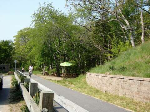Take a ride on the rail trail- bike rentals available right in Harwich Center! Harwich Cape Cod -
