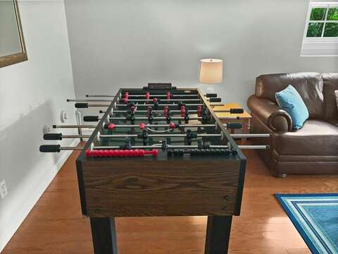 Enjoy a rousing game of foosball! - 60 Cornerwood Drive Harwich Cape Cod - New England Vacation Rentals Harwich Cape Cod - Family Tides