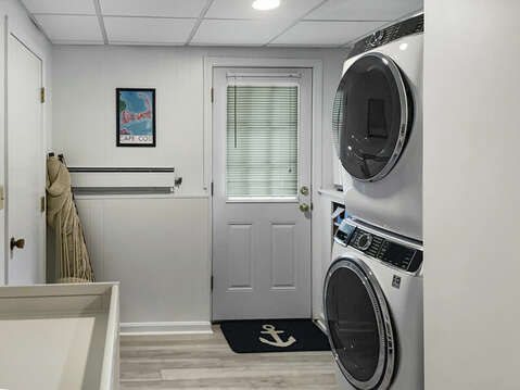 Lower Level Laundry Area - 60 Cornerwood Drive Harwich Cape Cod - New England Vacation Rentals