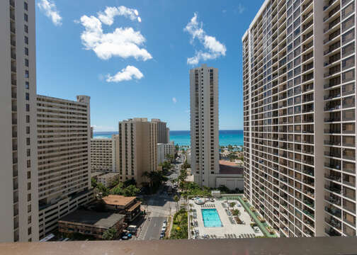 There are amazing views on the Lanai of the ocean and a night view of the city is something to see!