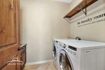 Take advantage of the newer washer/dryer and go home with clean clothes!
