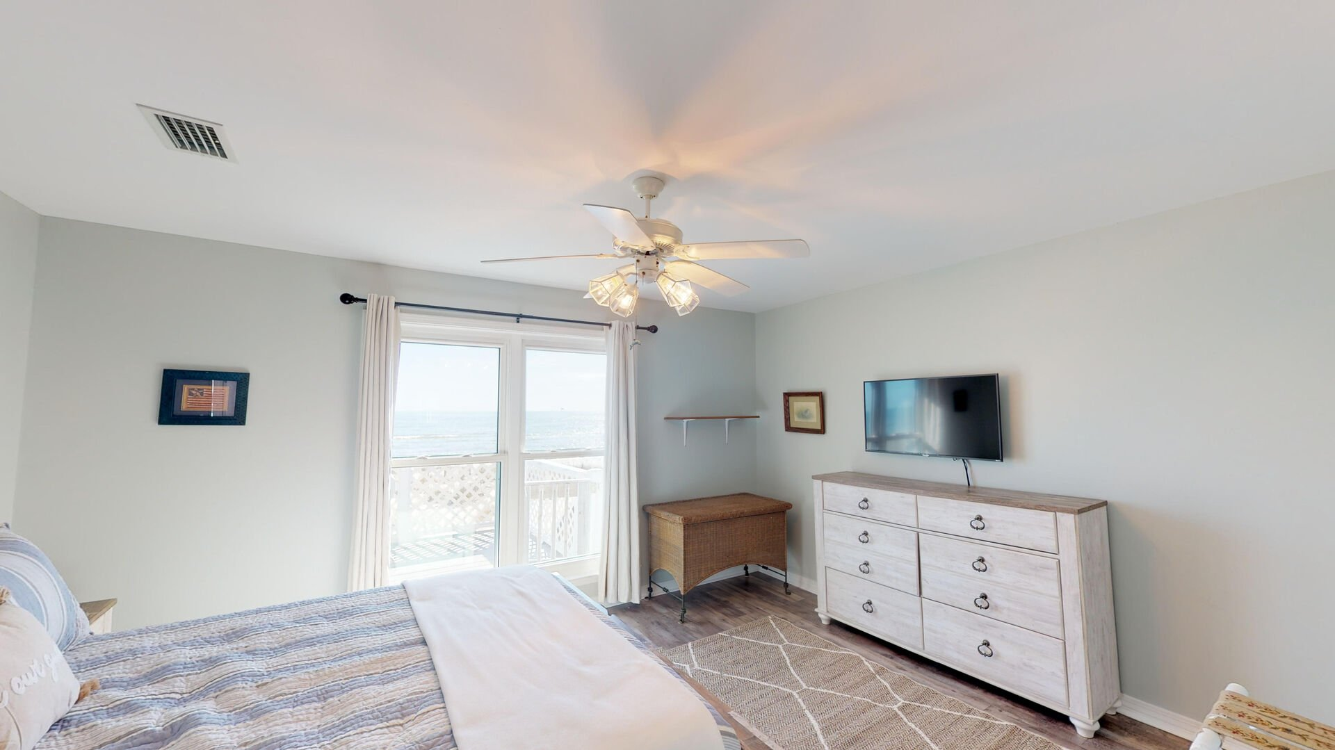 Master Bedroom is Equipped With an LCD TV.