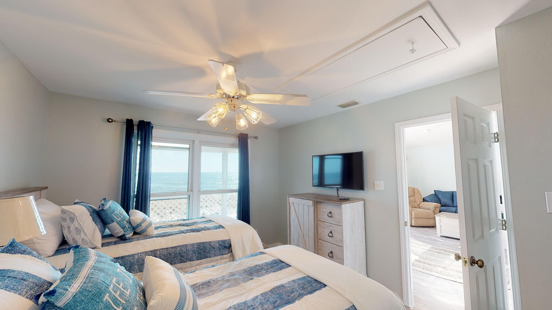 Two Twin Beds in Second Bedroom.