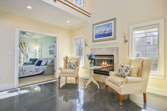 Sitting area on 1st floor-306 Millway Barnstable Cape Cod New England Vacation Rentals