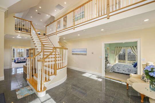 Open foyer - Contemporary , Nantucket style home-306 Millway Barnstable Cape Cod New England Vacation Rentals