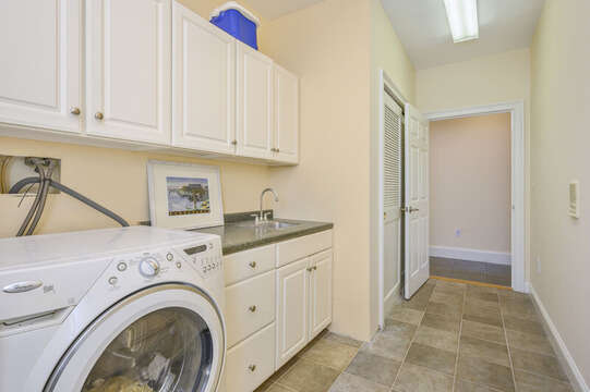 Laundry room-306 Millway Barnstable Cape Cod New England Vacation Rentals