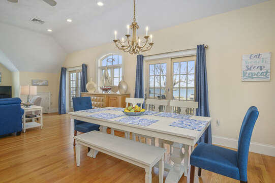 Dining table seats 7-8-306 Millway Barnstable Cape Cod New England Vacation Rentals