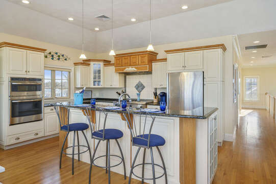 The breakfast bar seats 3! 306 Millway Barnstable Cape Cod New England Vacation Rentals