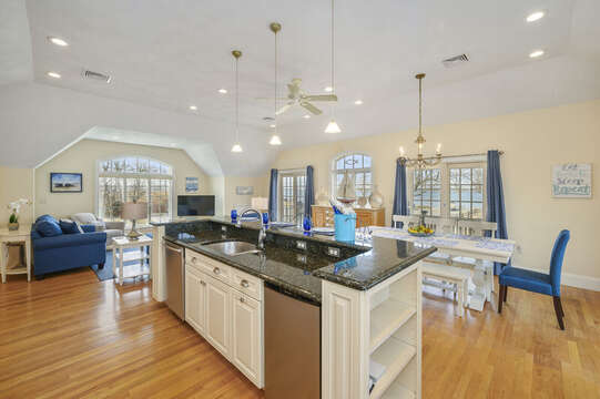 Island in kitchen - extra beverage frig! 306 Millway Barnstable Cape Cod New England Vacation Rentals